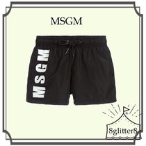 大人もOK!MSGM☆BoysロゴSwim shorts 4-14year