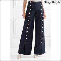 【Tory Burch(トリーバーチ)】Carrie crepe wide-leg pants