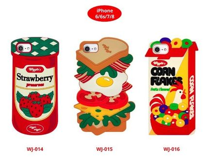 wiggle wiggle スマホケース・テックアクセサリー ★Wiggle Wiggle★Funky Case★ブレックファーストiPhone(3種類)(9)
