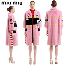 【正規品保証】MIUMIU★18春夏★MIUMIU GEOMETRIC MINK FUR COAT