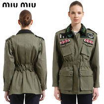 【正規品保証】MIUMIU★18春夏★MILITARY COTTON JACKET_GREEN