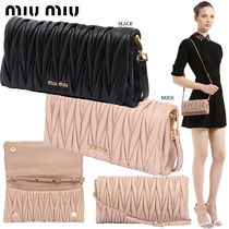 【正規品保証】MIUMIU★18春夏★QUILTED LEATHER CLUTCH