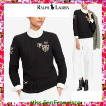【RL】春新作POLOアイコン★パッチワークCable Knit Sweater
