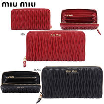 【正規品保証】MIUMIU★18春夏★QUILTED ZIP AROUND WALLET