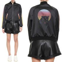 18SS WSL1264 PANTHER PRINTED TEDDY JACKET