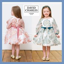 DAVID CHARLES★Teal Blue&Pink フラワードレス★2-10Y
