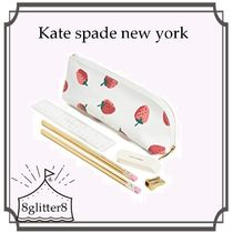 Kate spade new york いちご柄ペンケースセット