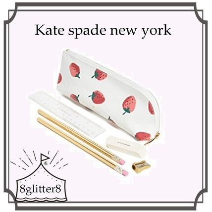 kate spade new york ペンケース Kate spade new york いちご柄ペンケースセット