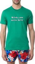 AMI▲ss18 WISH YOU WERE HERE GREEN コットン Tシャツ