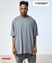 ATTENTIONROW(アテンションロー) Tシャツ・カットソー EXO着用[ATTENTIONROW]UNISEX SHAHARA OVER FIT T-SHHIRT(GREY)