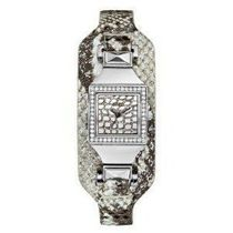 ゲス GUESS Women's Silver-Tone Embossed C 腕時計