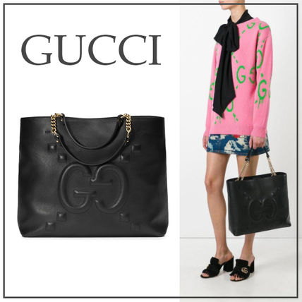 size 40 4a27d c6316 GUCCI GGエンボス チェーン ショルダーバッグ 黒・赤★国内発送