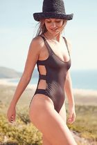 Out From Under Caged Side Strap One-Piece Swimsuit