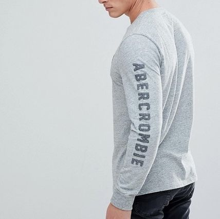 Abercrombie & Fitch Tシャツ・カットソー 【間・送込み】アバクロ アームロゴ A&F ロングTシャツ選べる3色(2)