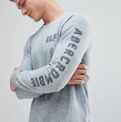 Abercrombie & Fitch Tシャツ・カットソー 【間・送込み】アバクロ アームロゴ A&F ロングTシャツ選べる3色(3)