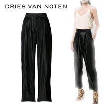 【18SS】★Dries Van Noten★lame cropped Penny trousers