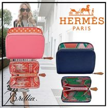 HERMES エルメス Portefeuille Silk'in Compact コインケース