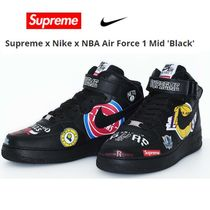 【NIKE】メンズ Supreme × Nike  AIR FORCE 1 MID BLACK