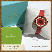 SALE! kate spade お花モチーフの可愛い腕時計♪red