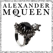 【送関込】Alexander McQueen☆HOUSE OF SKULL BRASS RING