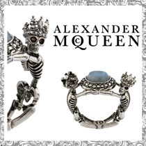 【送関込】Alexander McQueen☆QUEEN & KING LABRADORITE RING