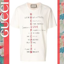 【GUCCI】Guccification 縦プリント ラウンドネック Tシャツ