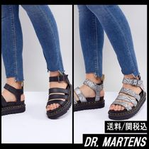 【Dr Martens】Blaire Vegan Strappy Flat Sandals 黒 スネーク