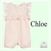 Chloe ☆Baby Girls PINKラッフルショートロンパース