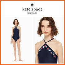 新作18SS☆KATE SPADE☆botanybay high neck one-piece swimsuit