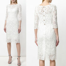 18SS DG1533 CORD LACE MIDI DRESS WITH JEWELRY DECORATION
