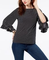 Michael Kors Printed Flare-Sleeve Top☆水玉トップ☆