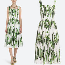 18SS DG1540 PEA PRINTED COTTON POPLIN SUN DRESS