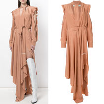 18SS OW035 DRAPED JERSEY DRESS WITH TIE
