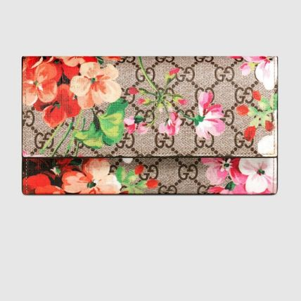 Gucci#GG Blooms#Continental#フラワープリント#長財布