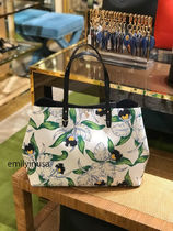 追跡有 TORY BURCH★KERRINGTON SQUARE TOTE A4収納OK*花柄