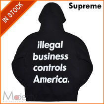 日本国内発送 SUPREME ILLEGAL BUSINESS HOODED SWEATSHIRT黒 M