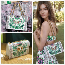TORY BURCH★Gemini Link Printed Chain Crossbody 48288