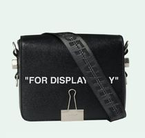 """Off-White """"FOR DESPLAY ONLY""""レザーショルダーバッグ"""