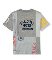新作!大人もOK♪ Patchwork Cotton T-Shirt boys 8~20