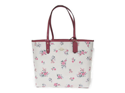 COACH Cross Stitch Floral Reversible Tote F25860