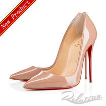 ★18SS★【Louboutin】So Kate 120㎜ パテント パンプス/Nude