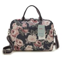 CathKidston ハンドバッグ 755450 Laptop Paper Rose ネイビー