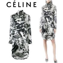 【18SS】大注目!!★CELINE★printed jersey dress