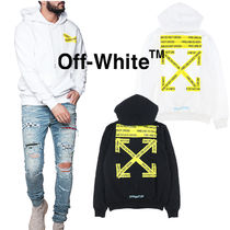 Off-White(オフホワイト) パーカー・フーディ OFF-WHITEが魅せる☆FIRETAPE ARROW HOODIE☆TEMPERATURE