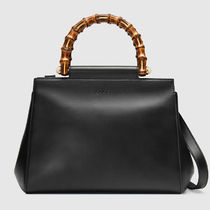 18SS◆GUCCI マザーズバッグ Nymphaea leather top handle bag