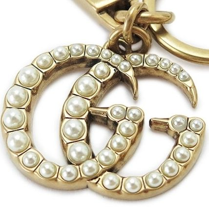 47a84d0b4c7c1 ... GUCCI キーホルダー・キーリング 早い者勝ち ☆Gucci☆ Double G with Pearls Key Ring