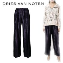 【18SS】大注目!!★Dries Van Noten★shiny cropped trousers