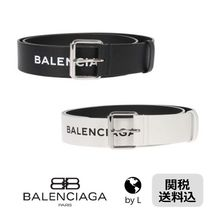 【関税送料込】*BALENCIAGA* Logoed leather belt