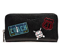 ☆COACH☆LEATHER ACCORDION WALLET☆iPhone-X 収納可