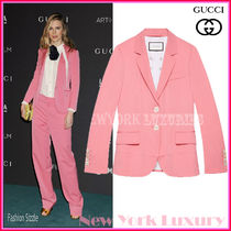 GUCCI★グッチ★素敵!PINK WOOL SILK BLEND BLAZER JACKET